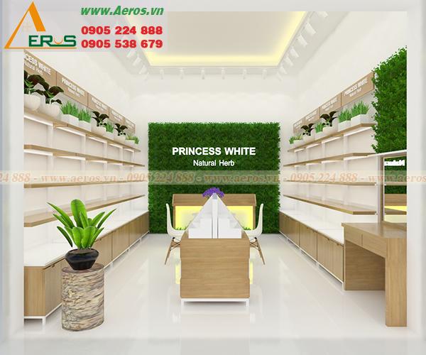 Những mẫu thiết kế shop mỹ phẩm đẹp do AEROS thực hiện trong tháng 2