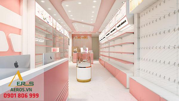 Thiết kế shop mỹ phẩm xinh xắn của chị Hương tại quận Bình Tân