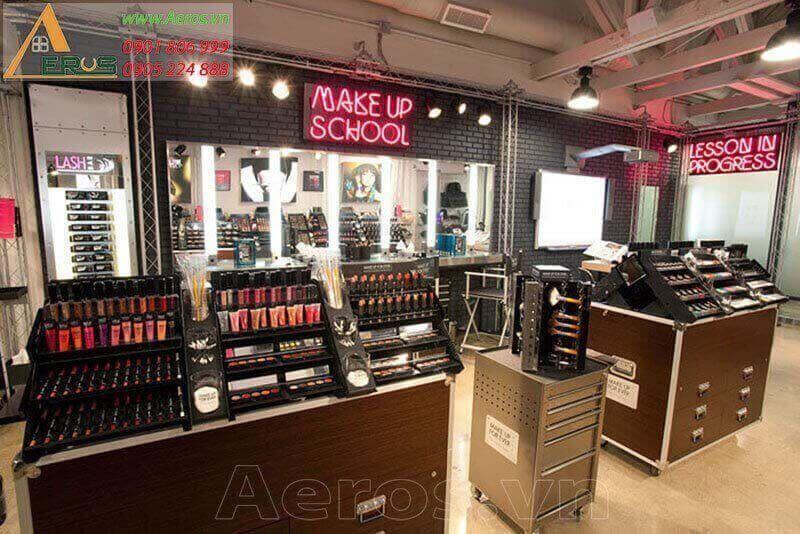 Thiết kế shop mỹ phẩm Make Up For Ever tại Bình Dương
