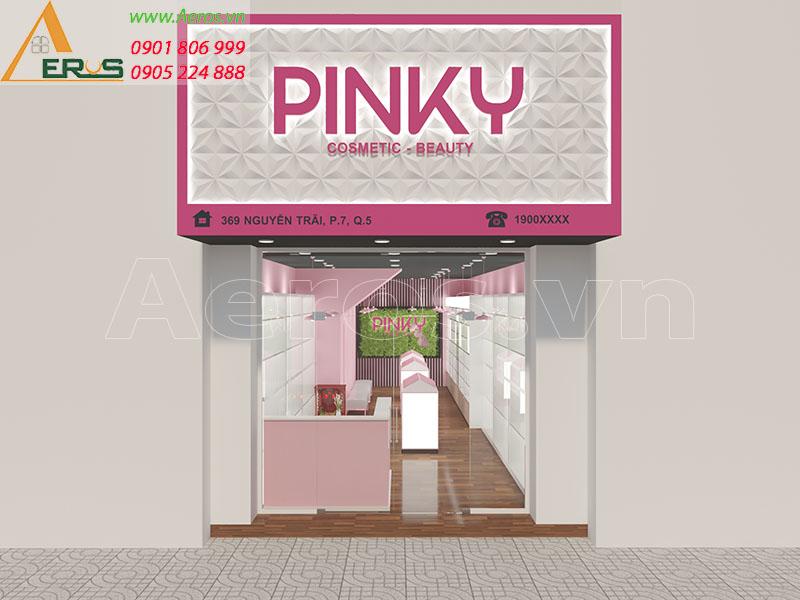 THIẾT KẾ SHOP MỸ PHẨM PINKY TẠI QUẬN 5