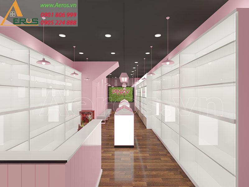Thiết kế shop mỹ phẩm Pinky quận 5 của chị Thanh