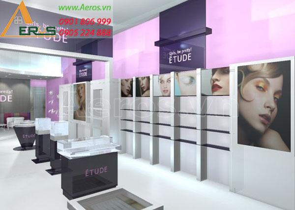 Thiết kế shop mỹ phẩm Etude tại Tân Phú