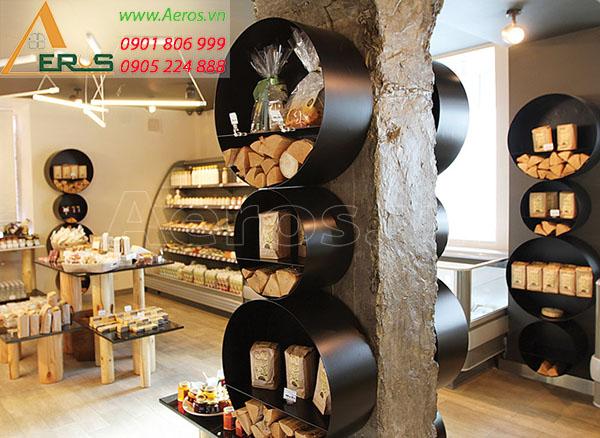 Thiết kế cửa hàng mỹ phẩm Mộc của chị Nhung quận 2