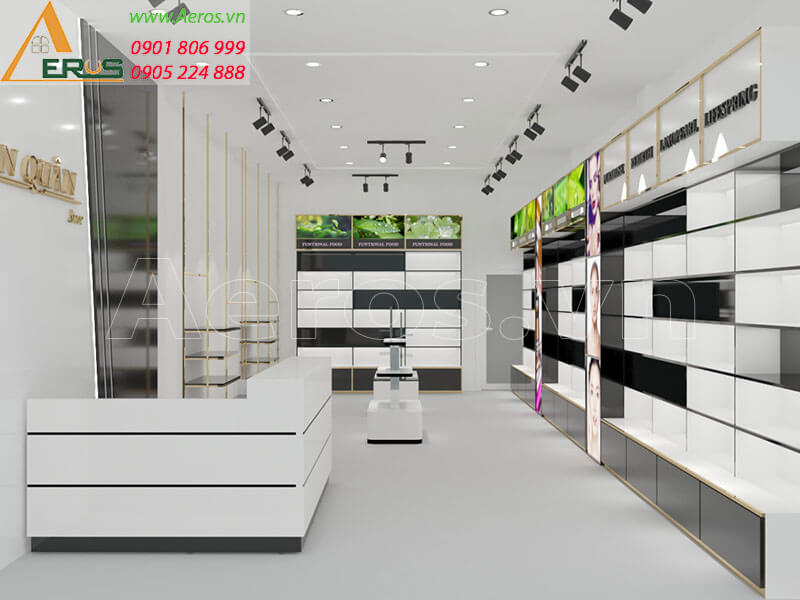 Thiết kế shop mỹ phẩm chị Chi tại Trảng Bom