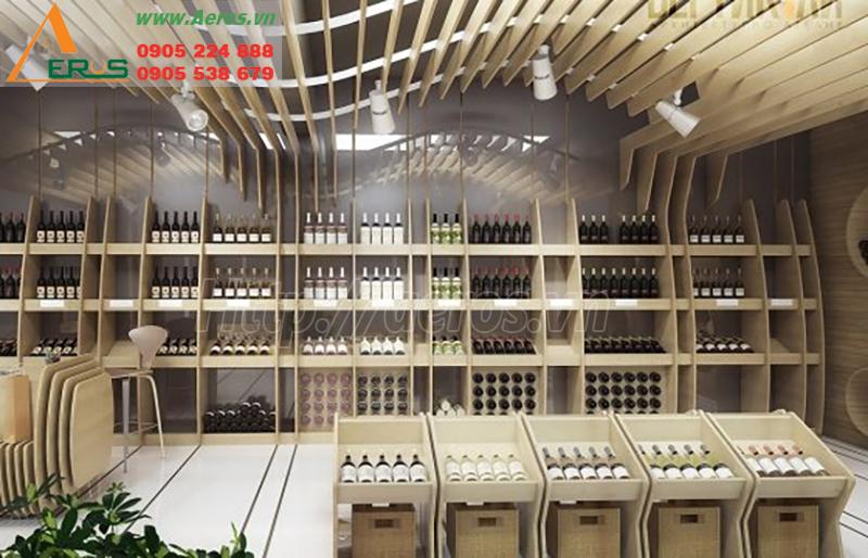 Thiết kế showroom rượu thu hút và đẹp sang trọng
