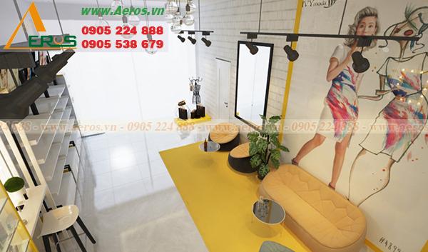 Hình ảnh thiết kế thi công nội thất shop mỹ phẩm XUBIN tại Long An