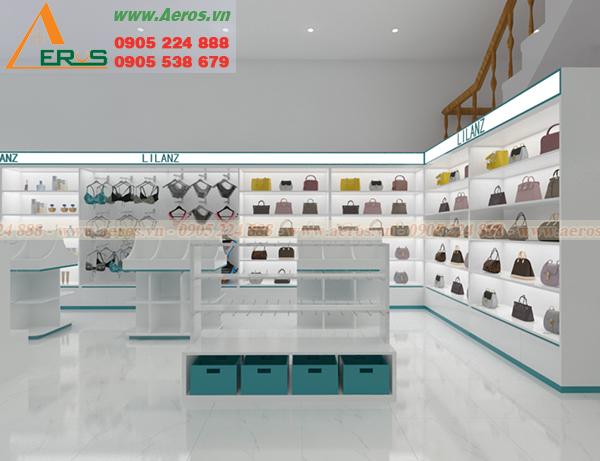 Hình ảnh thiết kế nội thất shop mỹ phẩm Phương Phương ở Long An