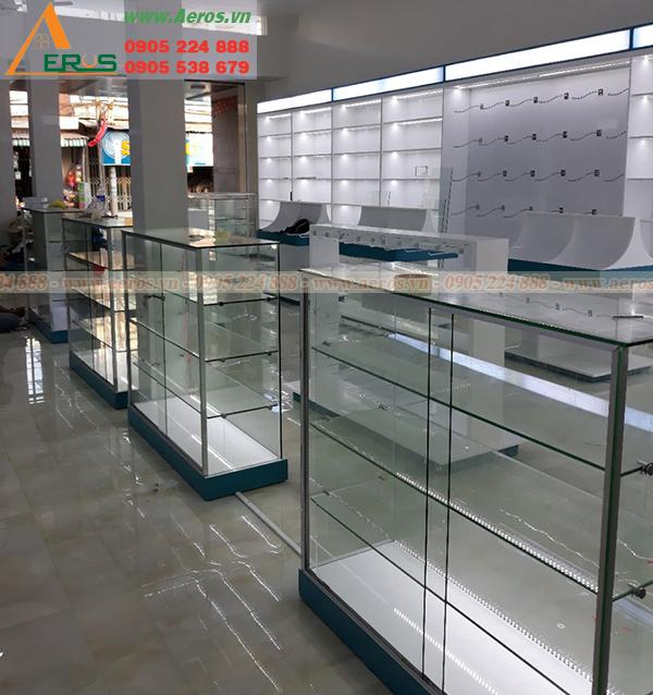 Hình ảnh thi công shop mỹ phẩm Phương Phương ở tại Long An