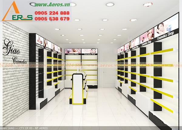 Hình ảnh thiết kế shop mỹ phẩm chị Giao tại quận 9, TPHCM