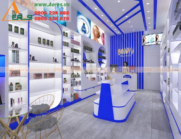 Hình ảnh mẫu thiết kế shop mỹ phẩm bonivy tại quận 3, TPHCM