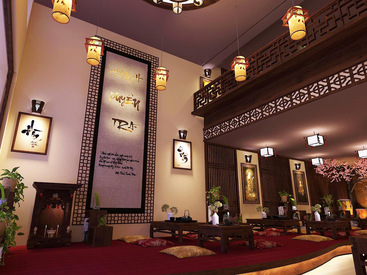 thiết kế quán trà đạo đẹp