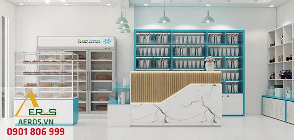 Thiết kế nội thất cửa hàng mỹ phẩm của chị Vân tại Củ Chi
