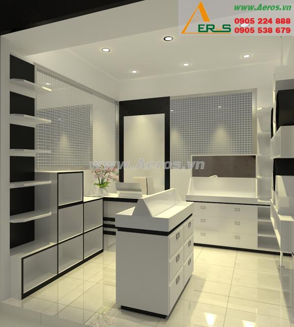 Thiết kế nội thất shop mỹ phẩm của anh Tân tại quận 7