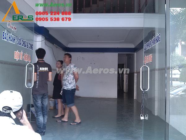 Hiện trạng mặt bằng shop mỹ phẩm của anh Tân tại quận 7