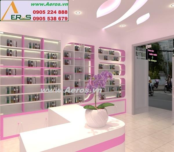 thiết kế shop mỹ phẩm Lachampa của chị Hồng tại quận 1