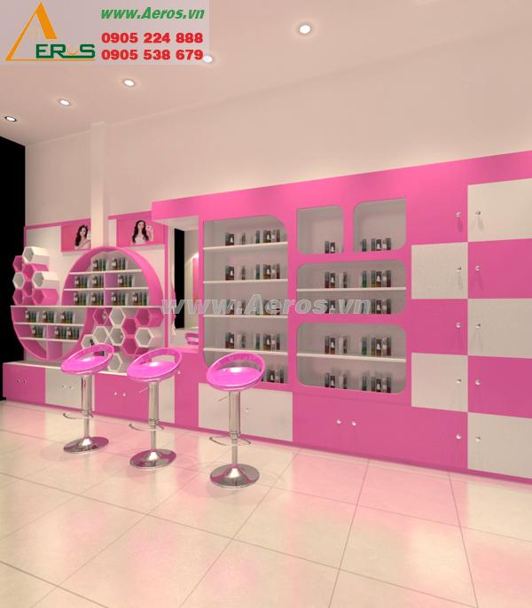 thiết kế nội thất shop mỹ phẩm lysa beauty của chị Lụa