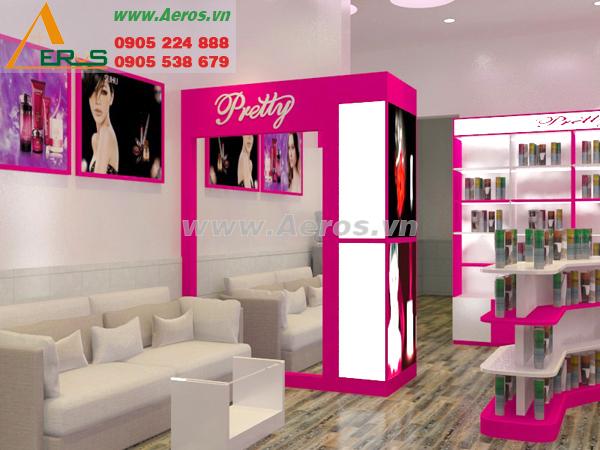 Thiết kế shop mỹ phẩm chị Trang tại Bến Tre