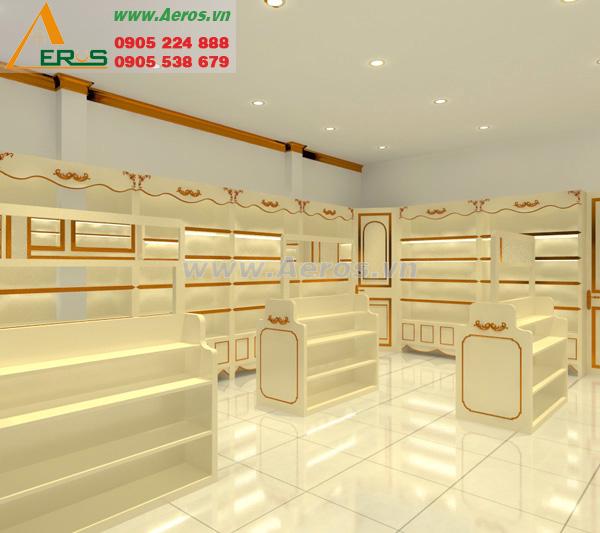 Thiết kế nội thất shop mỹ phẩm Quỳnh Bông