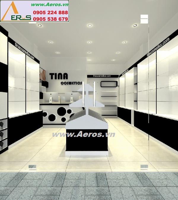 thiết kế shop mỹ phẩm tina tại quận 5