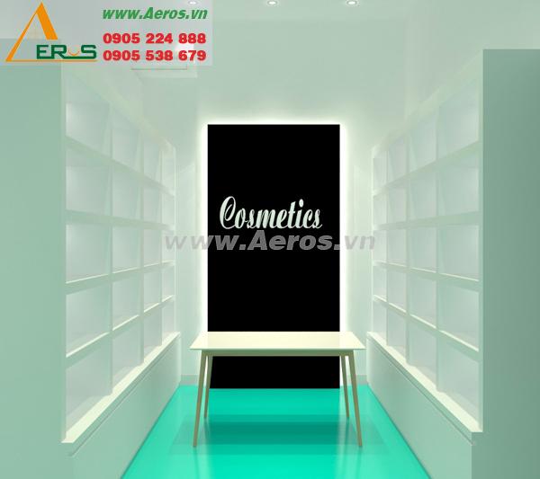 Thiết kế nội thất shop mỹ phẩm của anh Khánh tại Thủ Đức