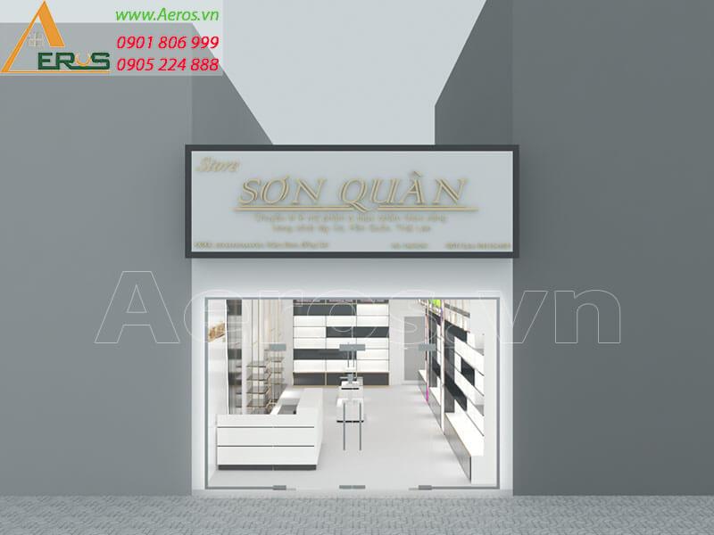 Thiết kế shop mỹ phẩm chị Chi tại Trảng Bom Đồng Nai