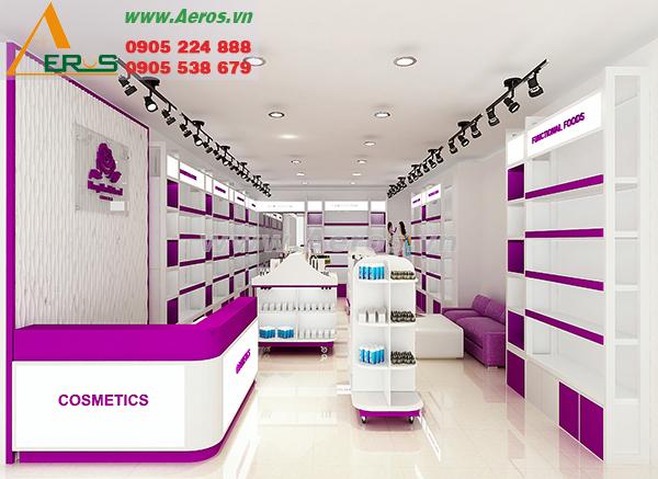 Thiết kế shop mỹ phẩm Hong Thu Natural tại Gò Vấp