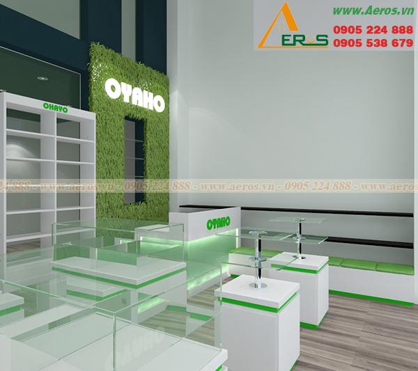 Thiết kế shop mỹ phẩm Oyaho