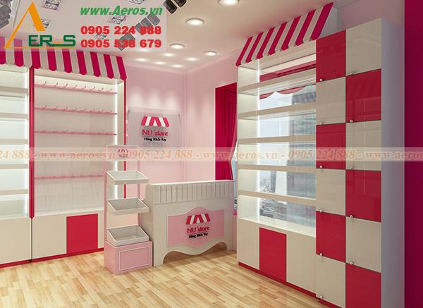 Thiết kế shop mỹ phẩm chị Trúc tại quận 1
