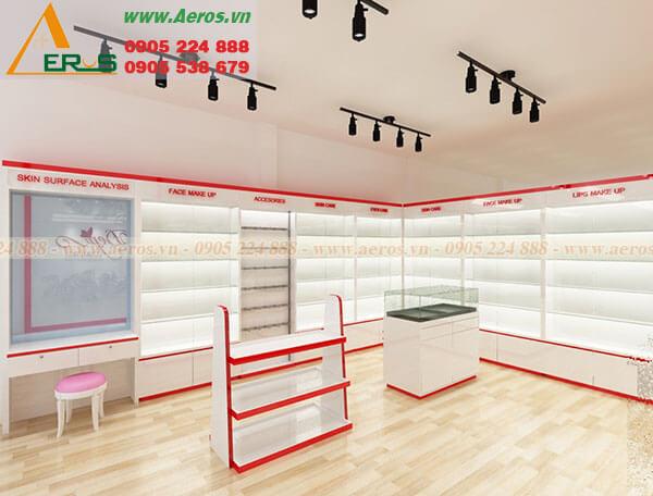 Thiết kế shop mỹ phẩm Đẹp Cosmetics tại Thủ Đức