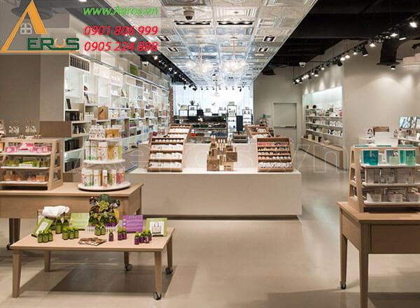 Thiết kế shop mỹ phẩm đẹp sang trọng của chị Nhung quận 2