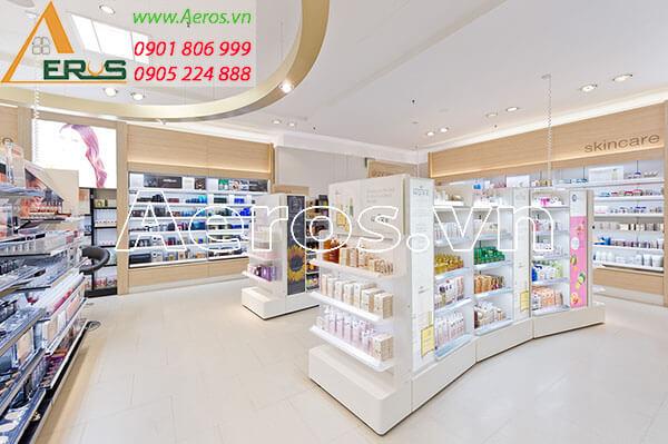 Thiết kế shop mỹ phẩm đẹp và sang trọng theo yêu cầu chị Hương Q4