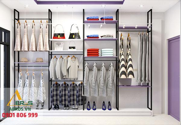 Thiết kế nội thất shop mỹ phẩm Mai Lê của chị Mai tại Tân An
