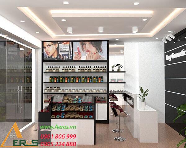 Thiết kế shop mỹ phẩm nhỏ theo yêu cầu Chị Vân tại Tân Bình