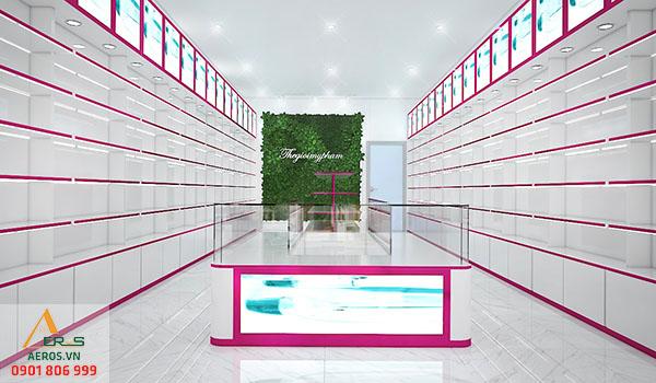Thiết kế nội thất shop mỹ phẩm của anh Phước tại Bình Dương