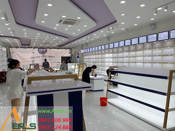 Thiết kế showroom mỹ phẩm NUTY tại Vinh