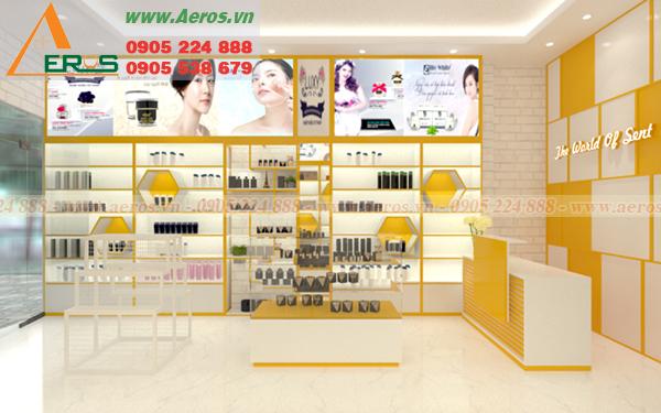 Hình ảnh thiết kế nội thất shop mỹ phẩm anh Tài ở quận 3, TPHCM