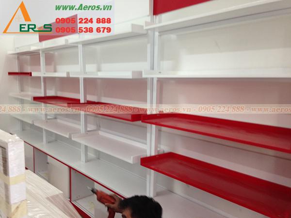 Hình ảnh thi công shop mỹ phẩm chị Thuận tại quận Bình Thạnh, TPHCM