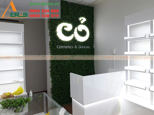 Hình ảnh thi công shop mỹ phẩm cỏ tại quận 1, TP HCM
