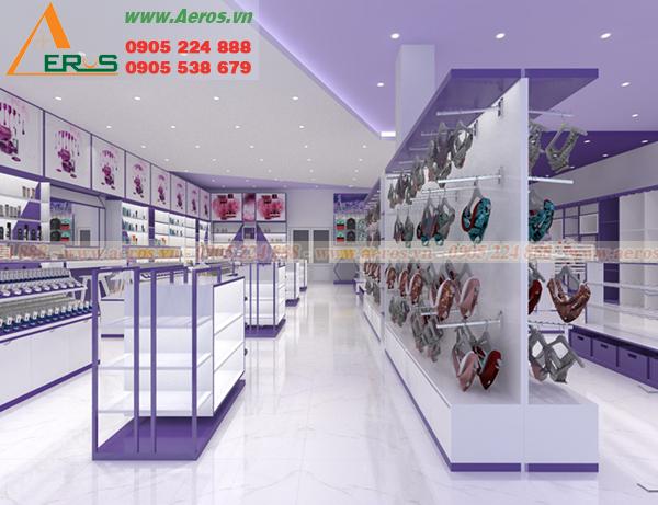 Hình ảnh thiết kế thi công nội thất shop mỹ phẩm HT LAVENDER ở tại Bình Dương