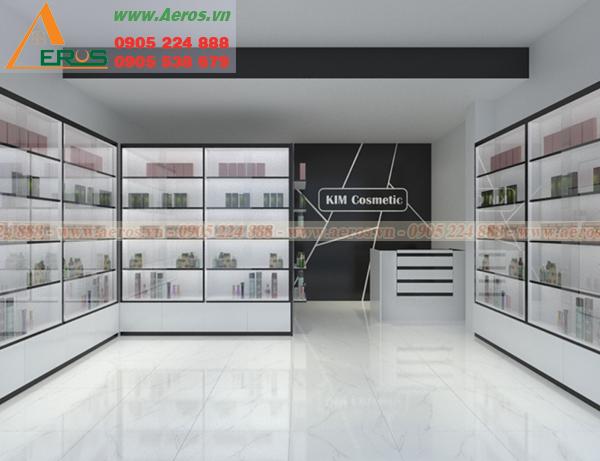 Hình ảnh thiết kế shop mỹ phẩm kim tại quận 2, tphcm