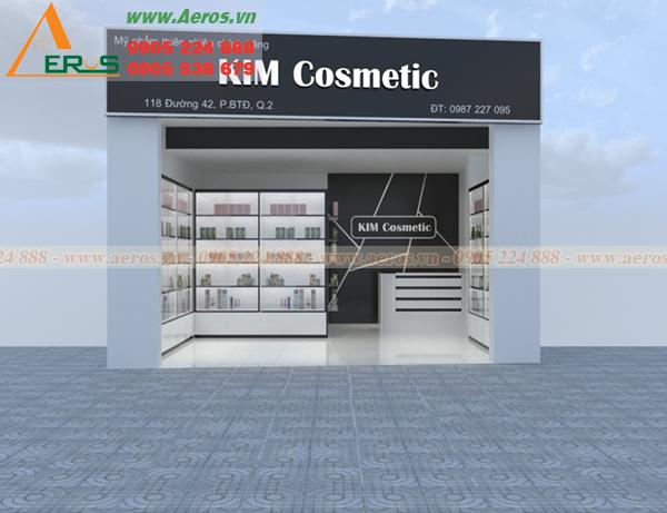 Hình ảnh thiết kế shop mỹ phẩm Kim tại quận 2, TP HCM