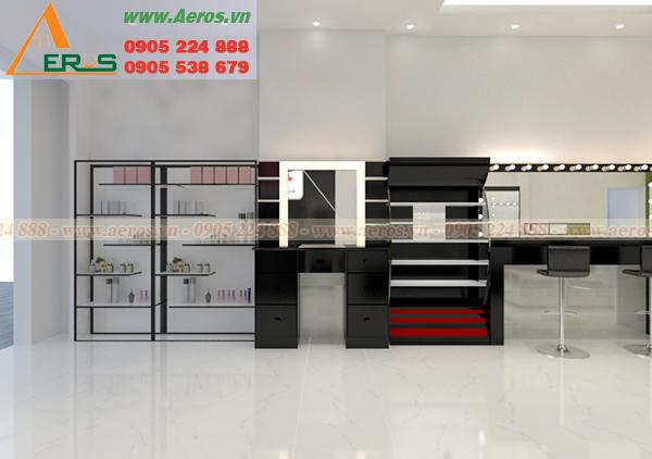 Hình ảnh thiết kế thi công nội thất shop mỹ phẩm TIPU tại quận Bình Tân, TPHCM