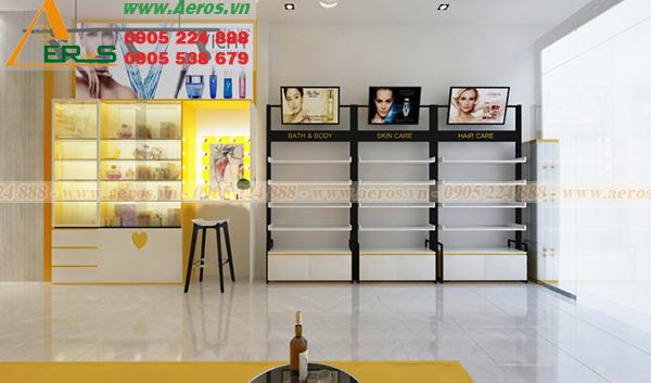 THiết kế shop mỹ phẩm Xubin tại Long An