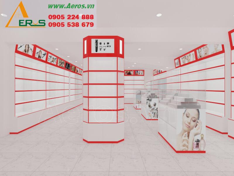 Hình ảnh Aeros thiết kế nội thất cho shop mỹ phẩm anh Ẩn ở quận 1, TPHCM