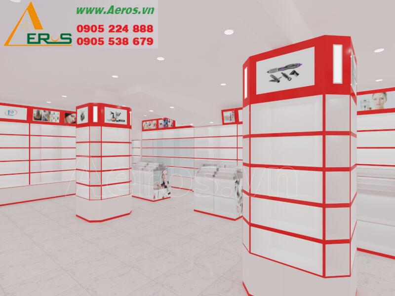 Hình ảnh Aeros thiết kế nội thất showroom mỹ phẩm anh Ẩn ở quận 1, TPHCM