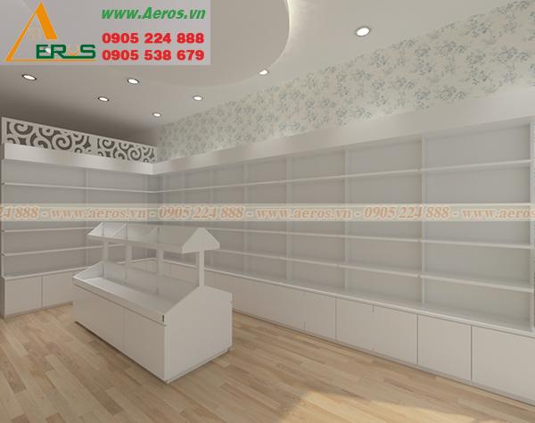 thiết kế và thi công shop mỹ phẩm của anh Hoàng