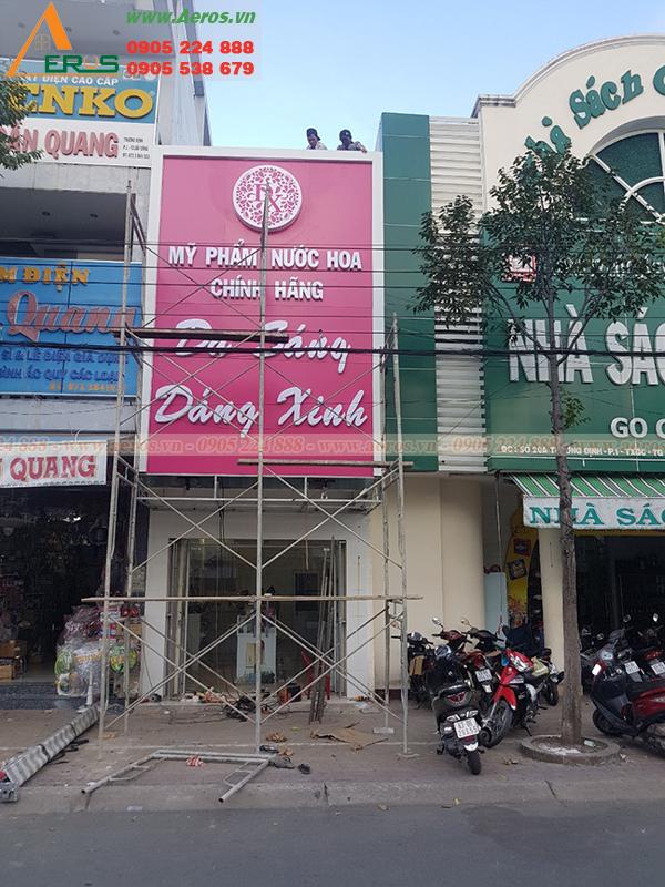 Hình ảnh thi công shop mỹ phẩm anh Thuận, Tiền Giang
