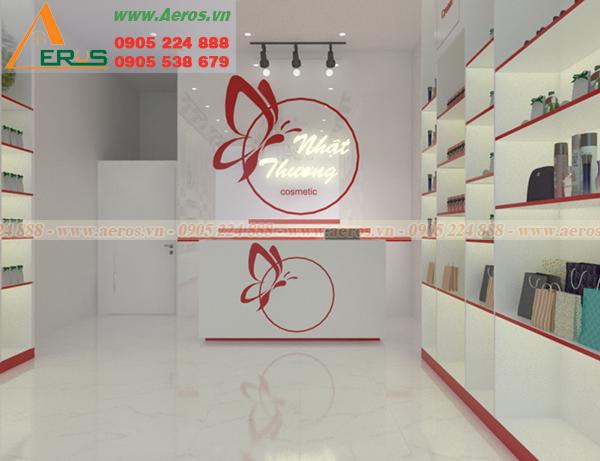 Hình ảnh thiết kế shop mỹ phẩm anh Tuấn tại Bình Dương.
