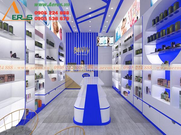 Hình ảnh thiết kế nội thất shop mỹ phẩm Bonivy