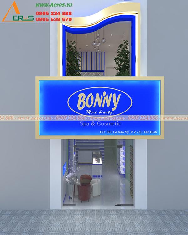 Hình ảnh thiết kế bảng hiệu shop mỹ phẩm Bonivy